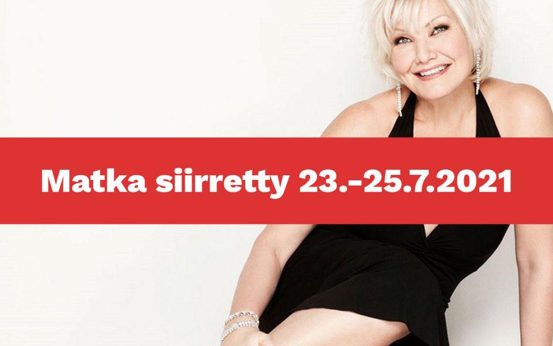 Karita Mattilan juhlakonsertti Olavinlinnassa ja paljon muuta – Matka siirretty 23.-25.7.20212021
