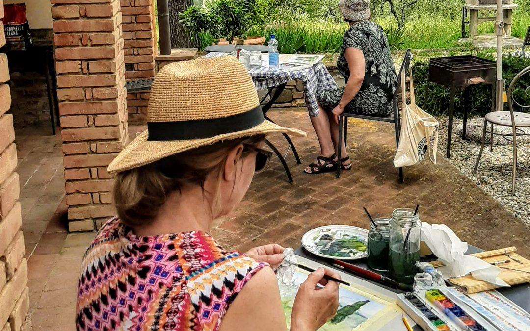 Kulttuuria ja akvarellimaalausta Toscanassa