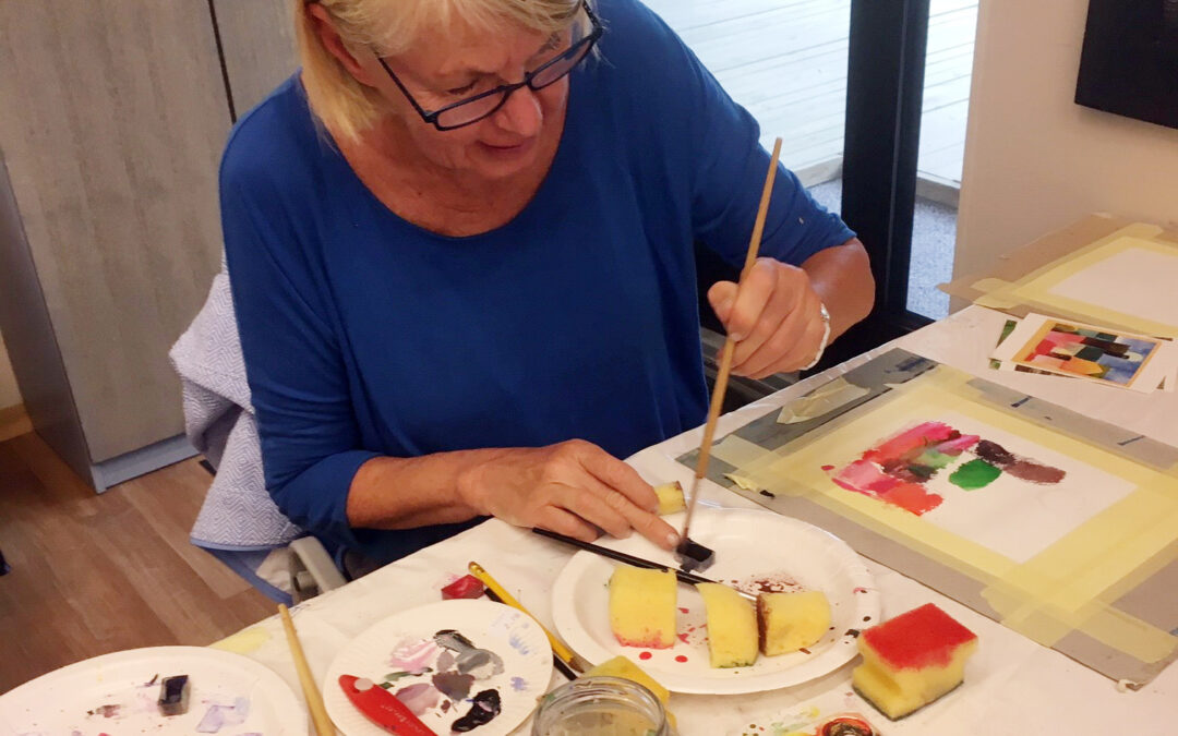Akvarellimaalausta ja kylpylähoitoja Haapsalussa